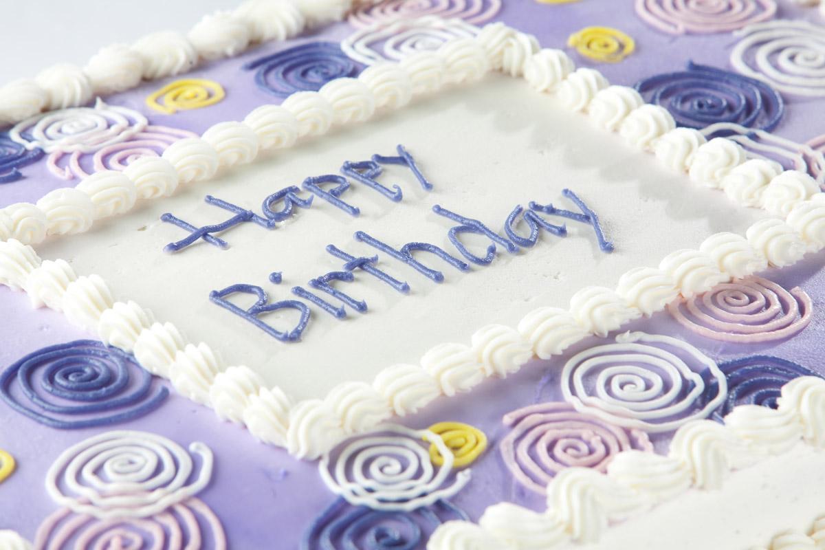 Terrific Quarter Sheet Cake Kathys Pies Personalised Birthday Cards Cominlily Jamesorg